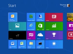 la nuova interfaccia grafica di windows 8