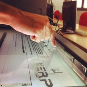 WERP su monitor touch da 32 pollici
